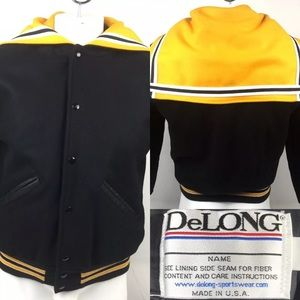 Delong Varsity Cheer Snap Button Jacket USA Unisex